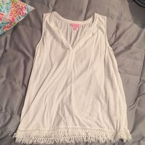 Lilly Pulitzer white shirt extra small